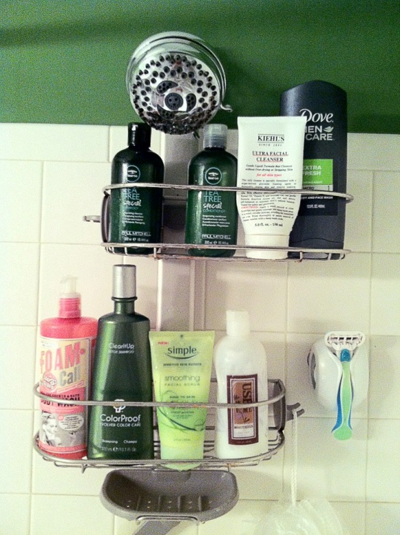 the glossarie shower shelves
